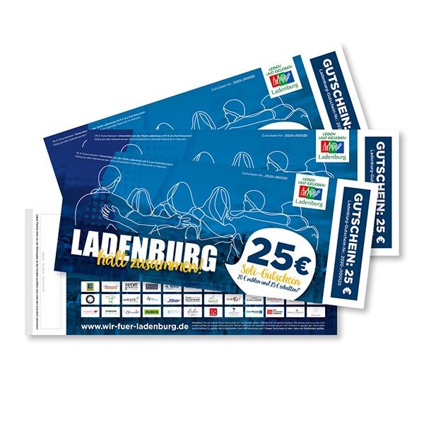 Ladenburg Soli-Gutschein - 20 € zahlen und 25 € erhalten!